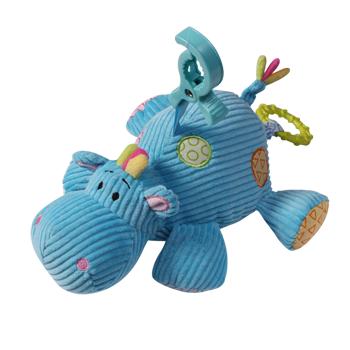 BabyOno piekariņš - rotallieta ratiem/ gultiņai - Hippo (zils)