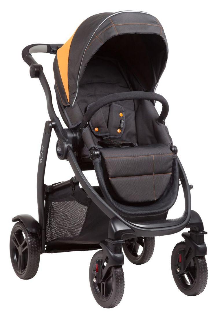 Graco Evo XT sporta rati - Storm/ tumši pelēki. oranži