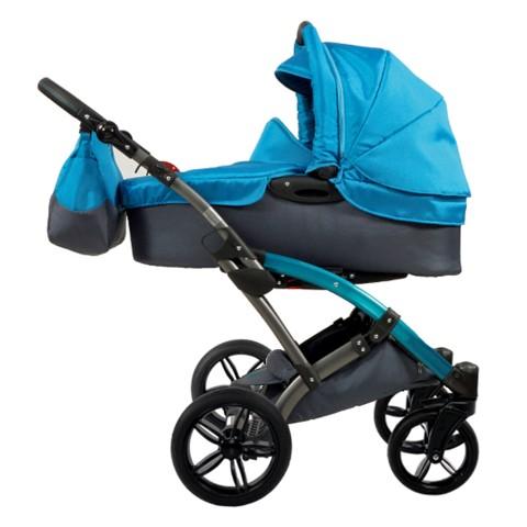 Knorr Baby Voletto kombinētie rati - Sport melni/ tirkīzzili