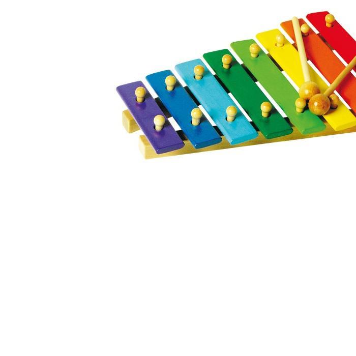 Koka ksilofons ar 8 notīm - krāsains