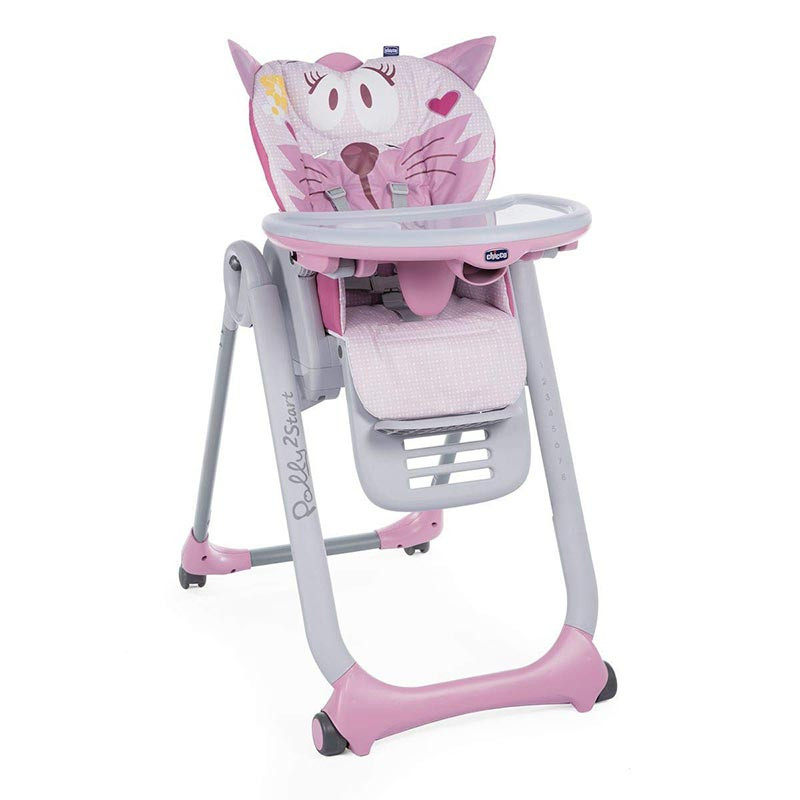 Chicco Polly 2 Start barošanas krēsls, Miss Pink